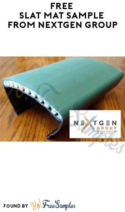 FREE Slat Mat Sample from NextGen Group